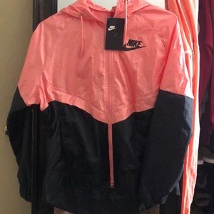 Hot pink/black nike jacket